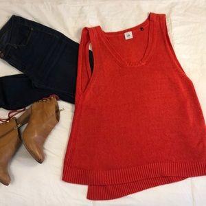 EUC CAbi Orange Sweater